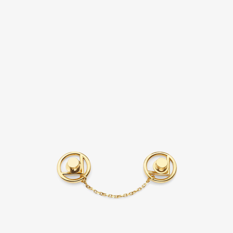 FENDI F IS FENDI BROOCH - Gold coloured brooch - view 2 detail
