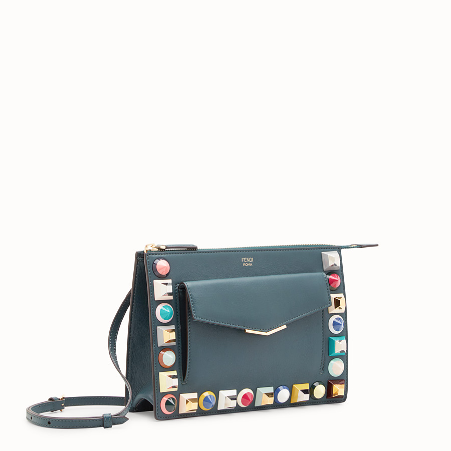 FENDI MINI POUCH - Green leather mini-bag - view 2 detail
