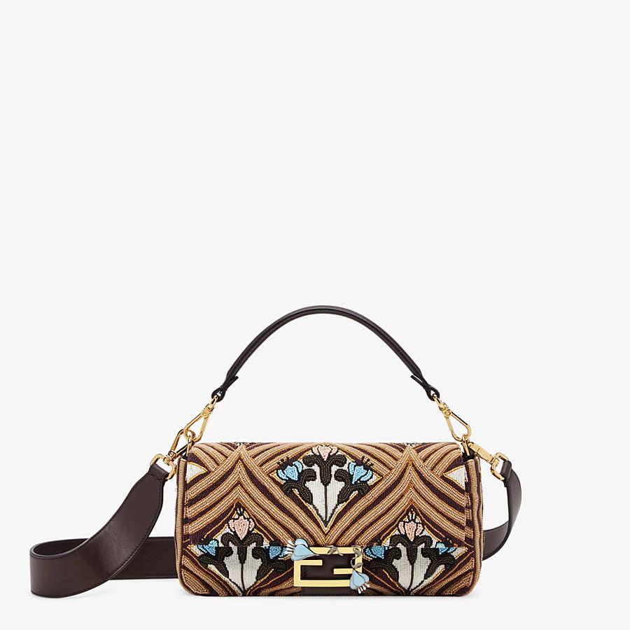 FENDI BAGUETTE - Brown satin bag - view 1 detail