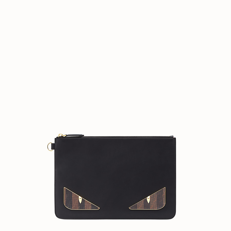 FENDI POUCH - Black leather pochette - view 1 detail
