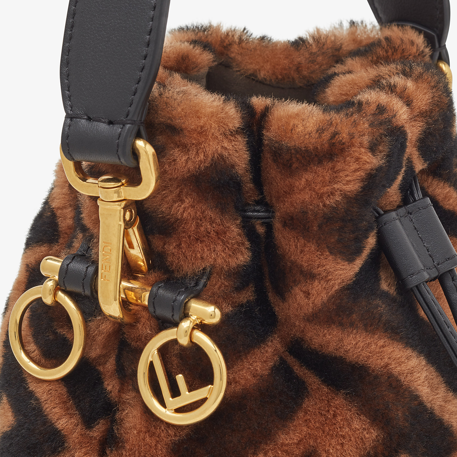 FENDI MON TRESOR - Mini-bag in brown sheepskin - view 6 detail