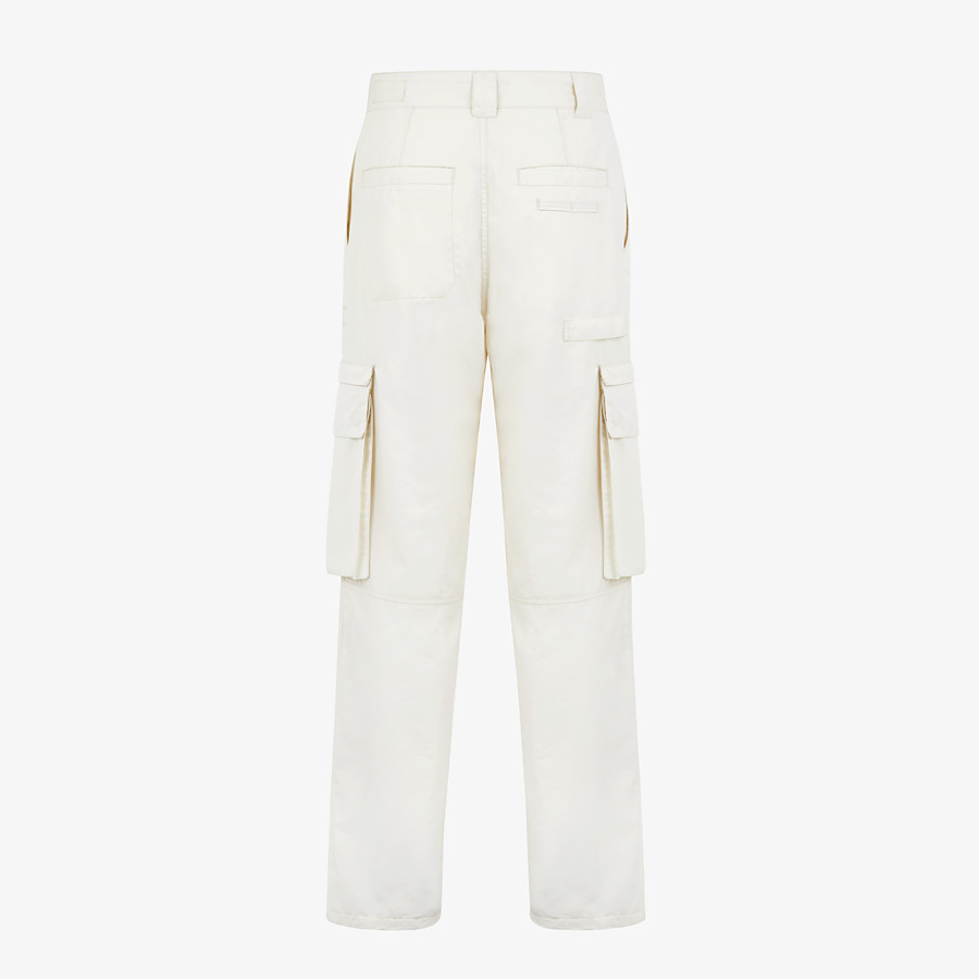 FENDI TROUSERS - White cotton trousers - view 2 detail
