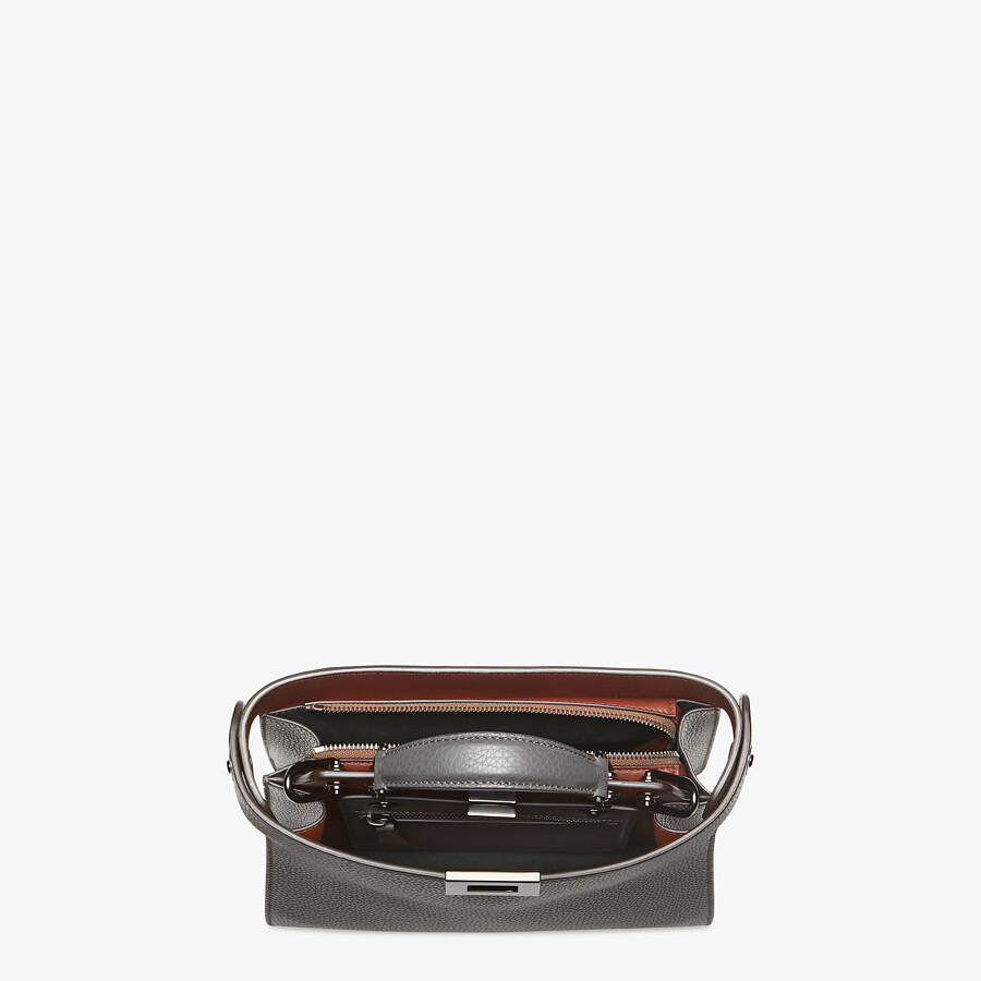 FENDI PEEKABOO ISEEU MINI - Gray leather bag - view 5 detail