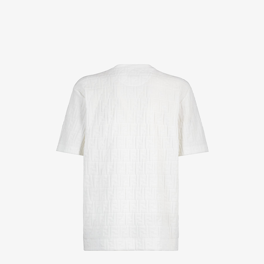 FENDI T-SHIRT - White chenille T-shirt - view 2 detail