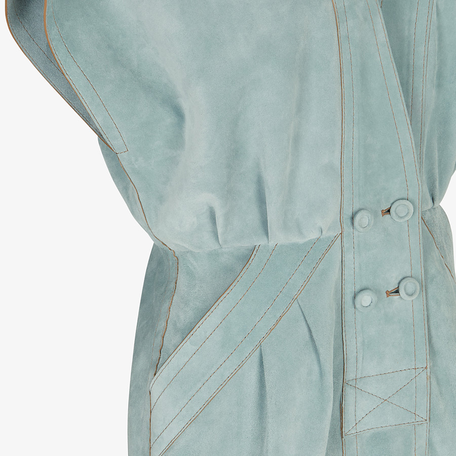 FENDI DRESS - Light blue suede dress - view 3 detail