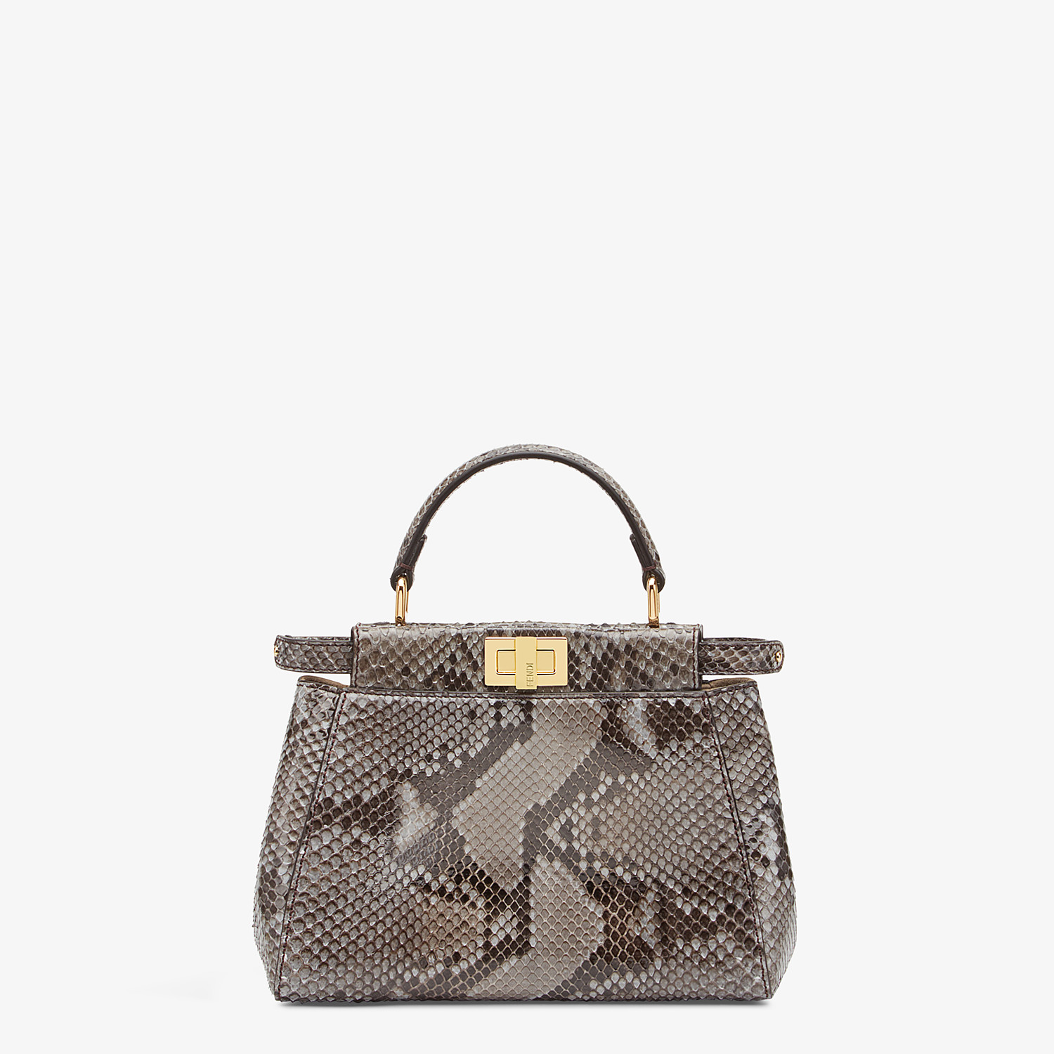 FENDI PEEKABOO ICONIC MINI - Gray python bag - view 1 detail