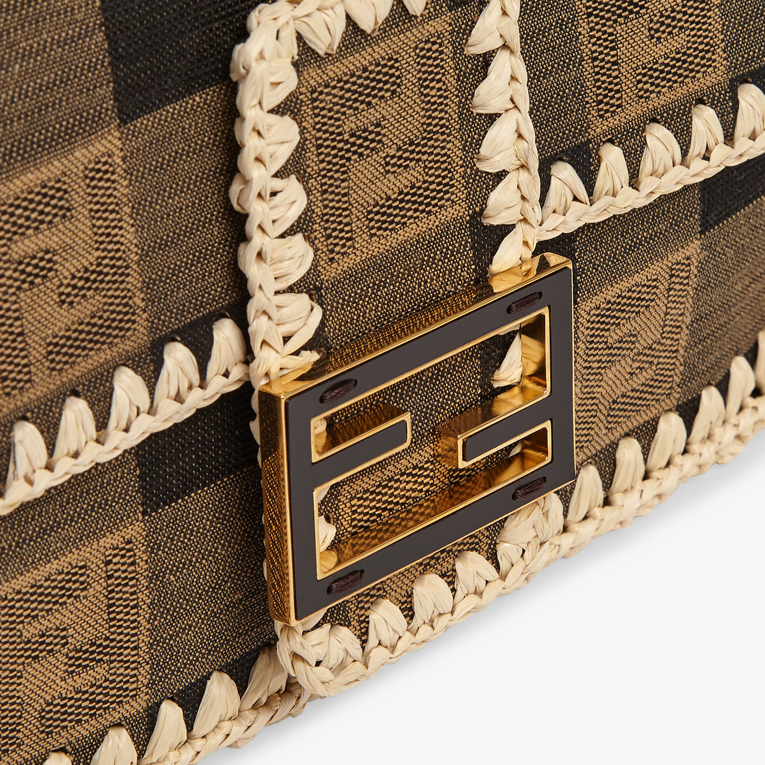 FENDI BAGUETTE - Brown fabric bag - view 6 detail