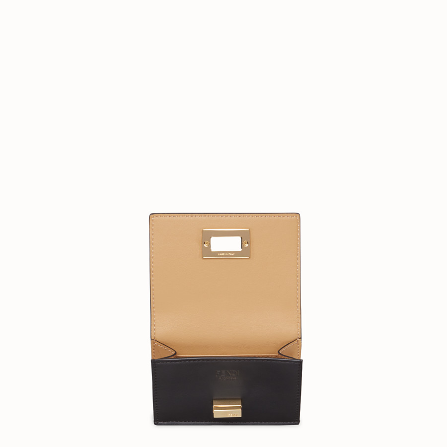 FENDI MICRO TRIFOLD - Black leather wallet - view 3 detail