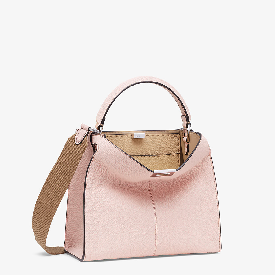 FENDI PEEKABOO X-LITE MEDIUM - Pink leather bag - view 3 detail
