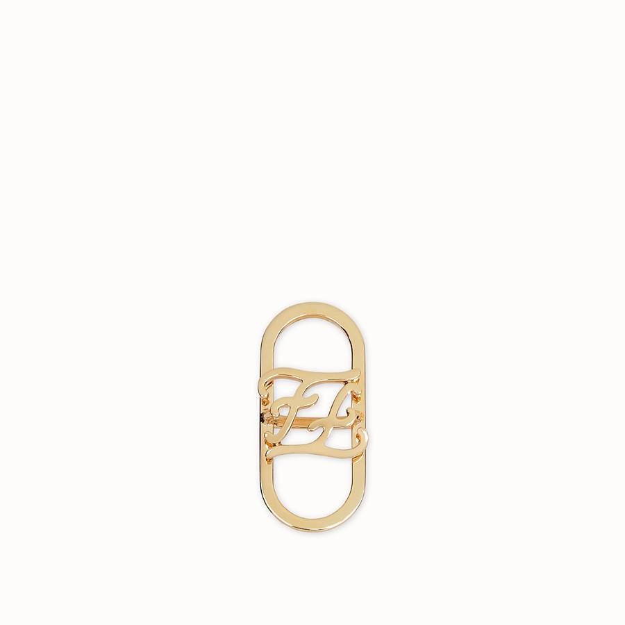 FENDI KARLIGRAPHY FOULARD-SPANGE - Foulard-Spange in der Farbe Gold - view 1 detail