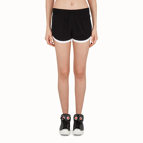 FENDI SHORTS - Shorts in black technical fabric - view 1 small thumbnail