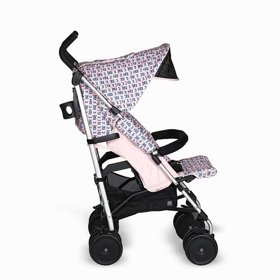 FENDI PUSHCHAIR - Pink stroller with monster pattern - view 3 detail