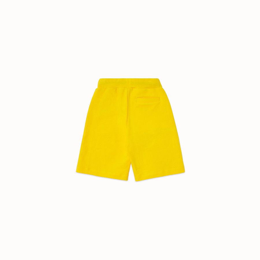 FENDI BERMUDAS - Yellow cotton Bermudas - view 2 detail