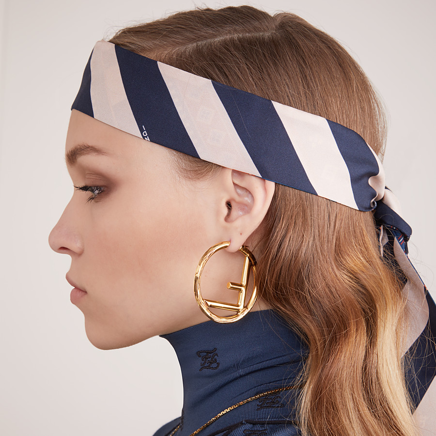 FENDI F IS FENDI EARRINGS - Gold-color earrings - view 2 detail