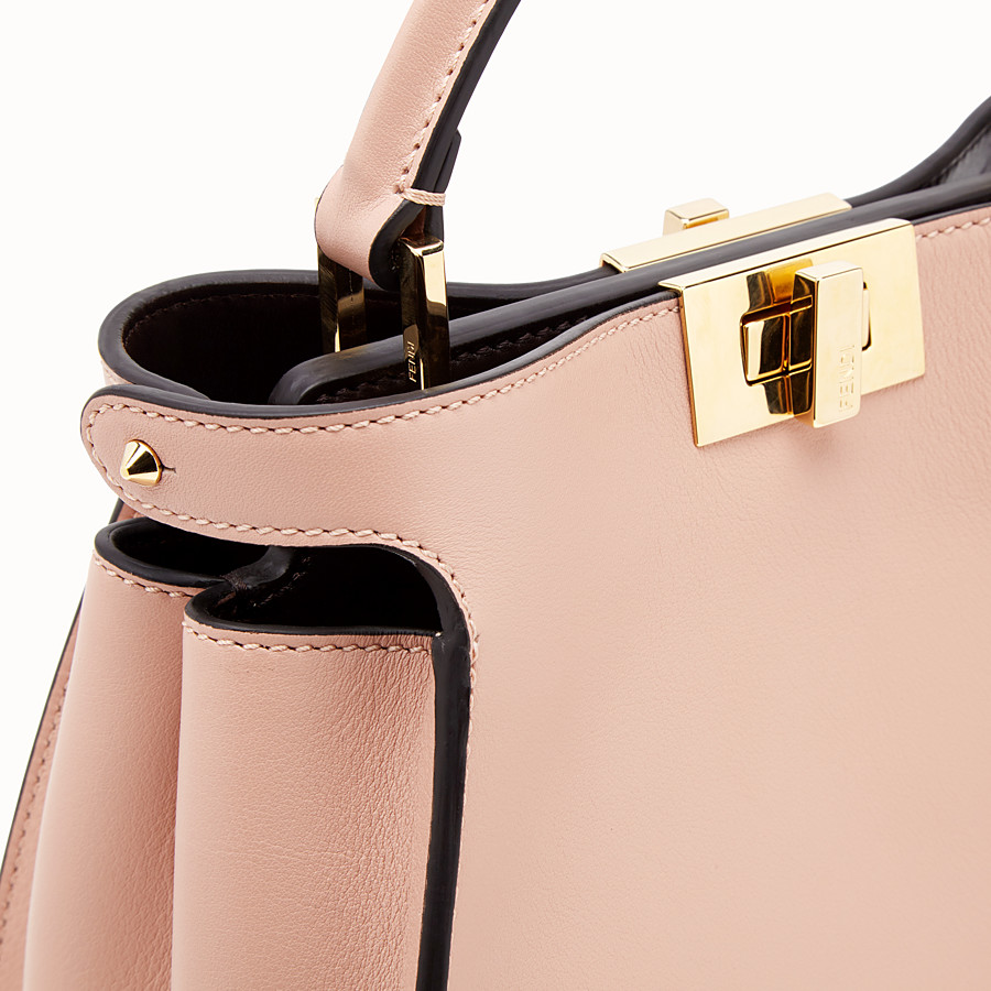 FENDI PEEKABOO ICONIC ESSENTIALLY - Pink leather bag - view 6 detail