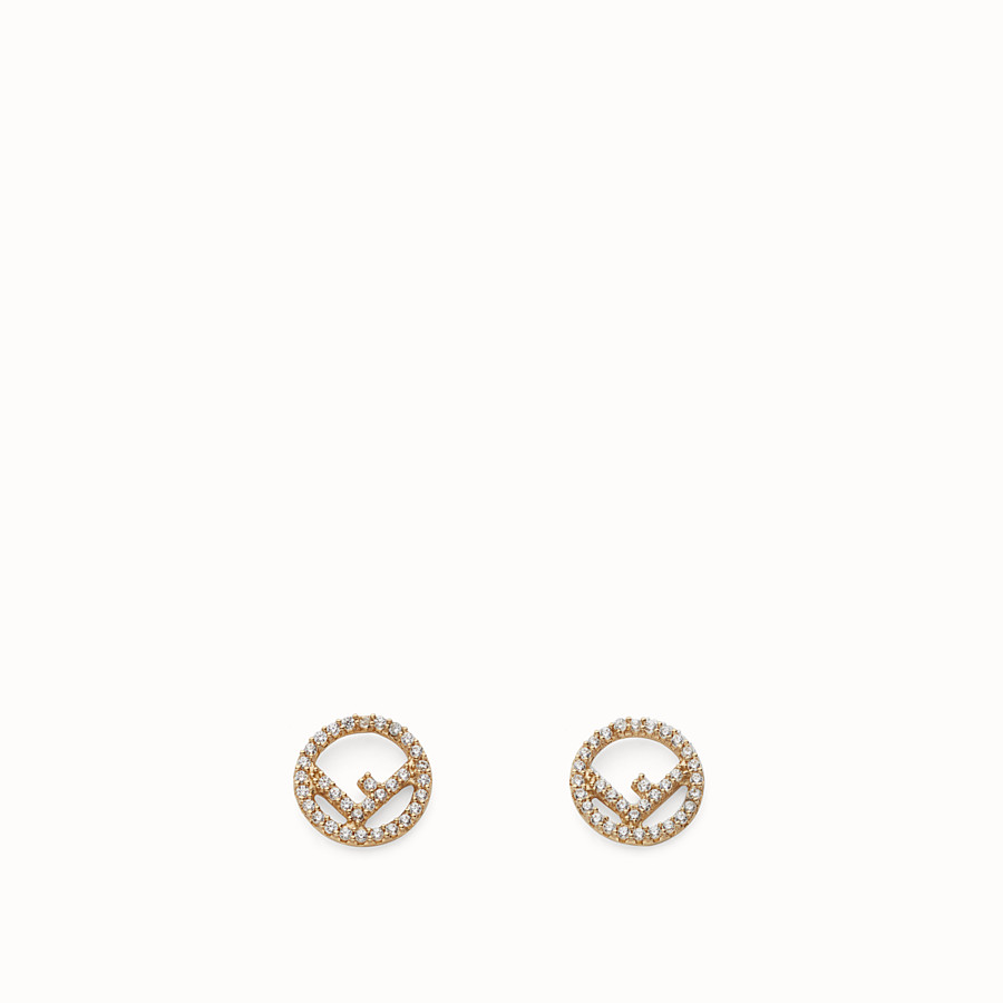 FENDI F IS FENDI EARRINGS - Gold colour earrings - view 1 detail
