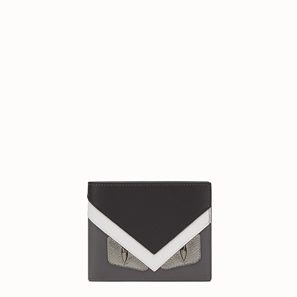 FENDI WALLET - Horizontal wallet in grey leather with insert - view 1 small thumbnail