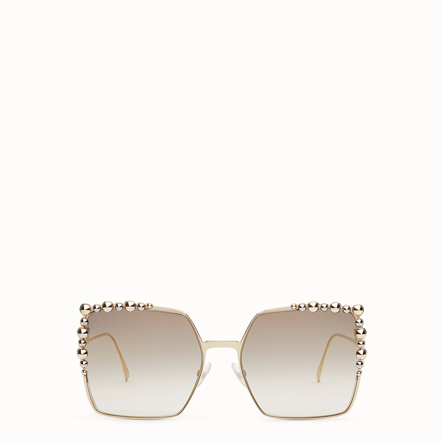FENDI CAN EYE - Gold-colour sunglasses - view 1 detail