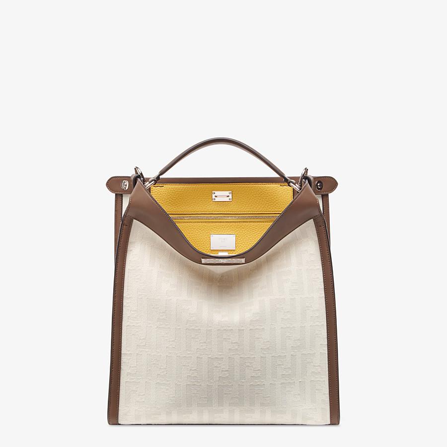 FENDI PEEKABOO X-LITE FIT - White canvas bag - view 2 detail