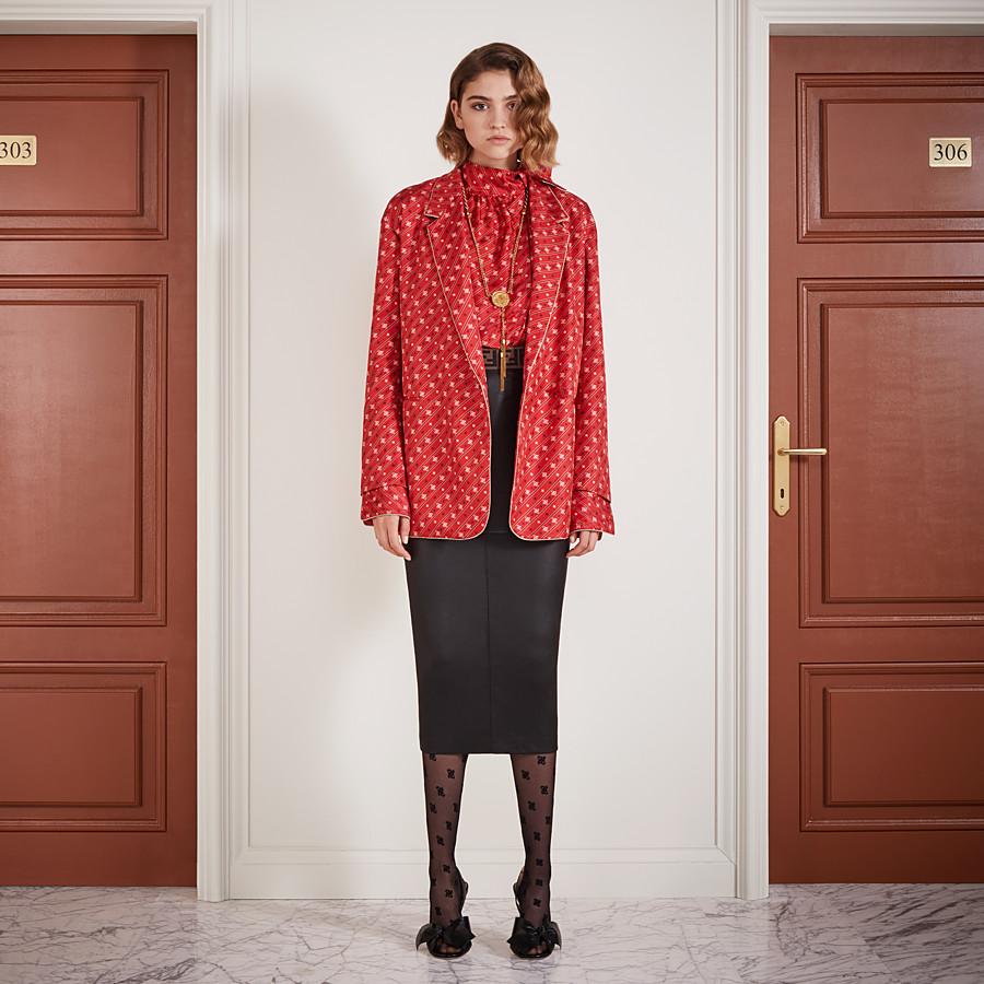 FENDI SHIRT - Red silk blouse - view 4 detail