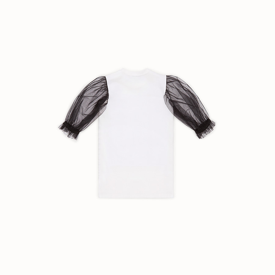 FENDI DRESS - Black and white tulle and jersey dress - view 2 detail