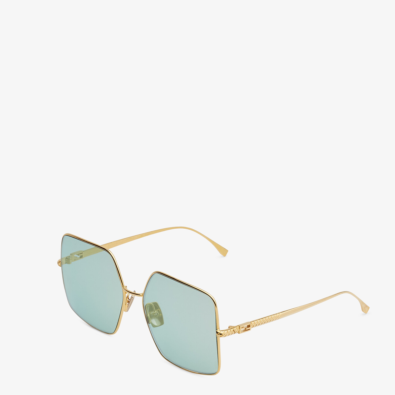 FENDI BAGUETTE - Gold-colored sunglasses - view 2 detail