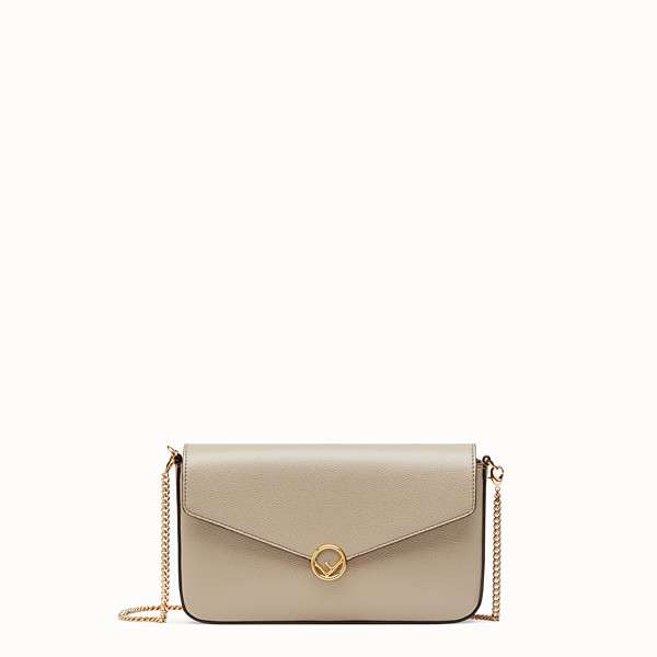 FENDI WALLET ON CHAIN WITH POUCHES - Beige leather minibag - view 1 small thumbnail