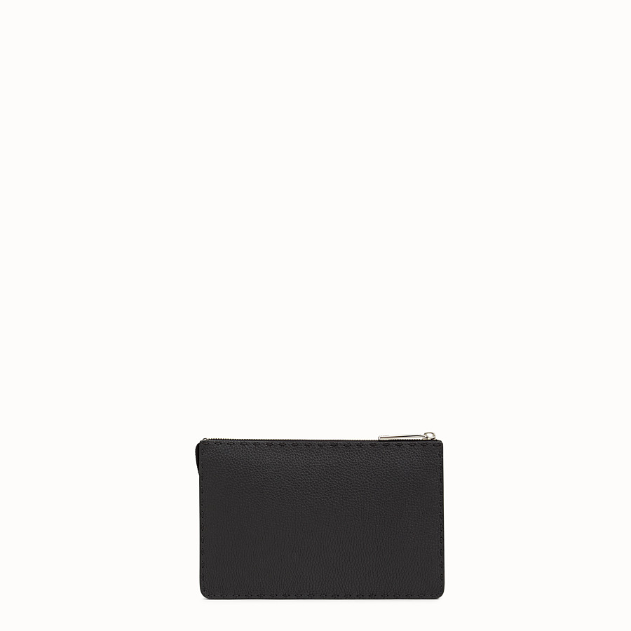 FENDI CLUTCH - in black Roman leather - view 3 detail