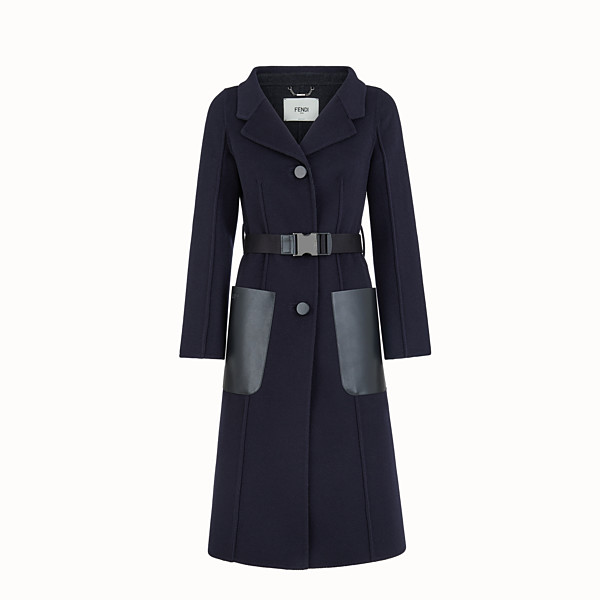 FENDI OVERCOAT - Blue cashmere overcoat - view 1 small thumbnail
