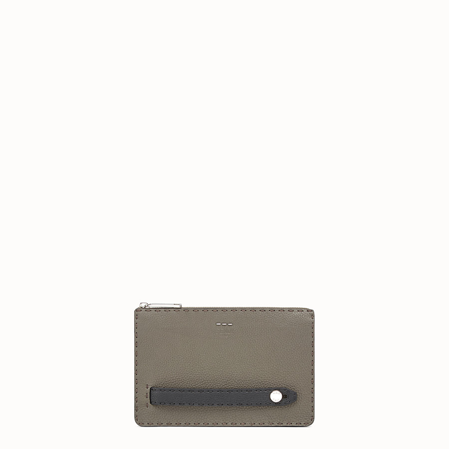 FENDI CLUTCH - Three-tone leather Selleria pouch - view 1 detail