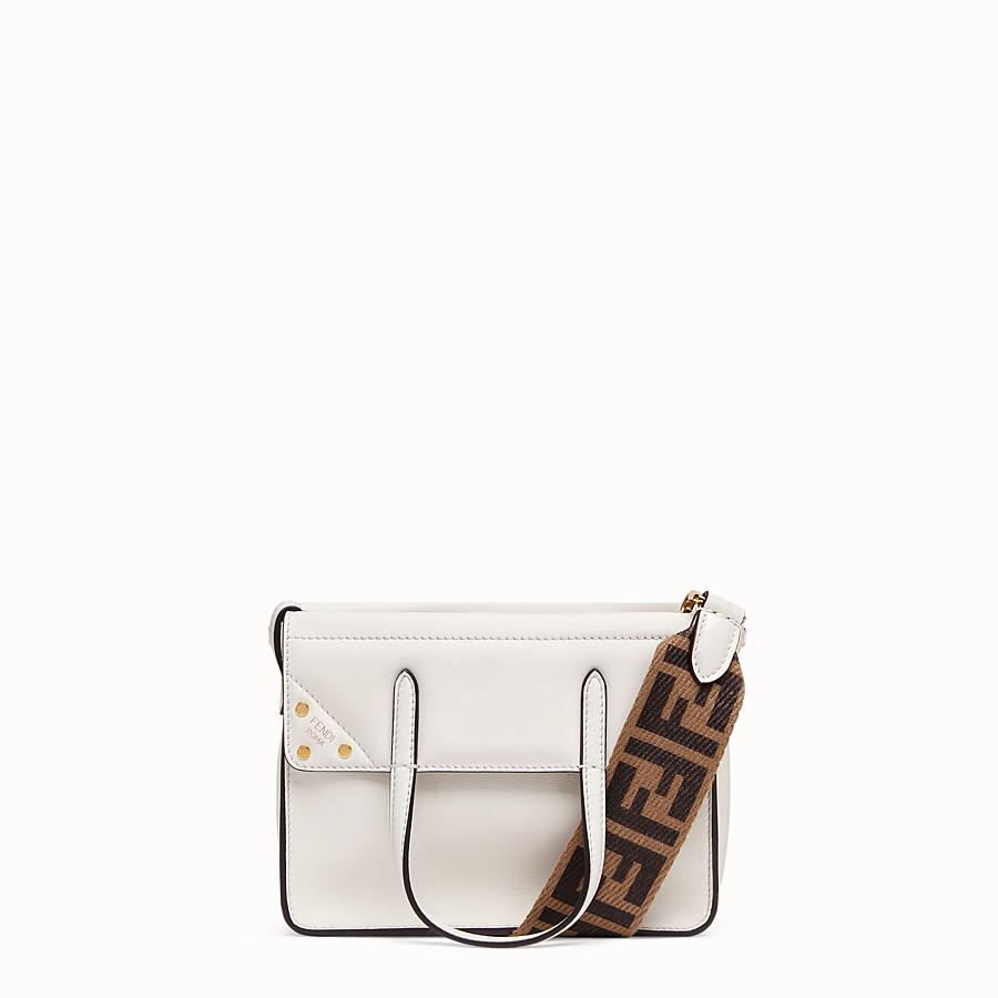 FENDI FENDI FLIP SMALL - White leather bag - view 1 detail