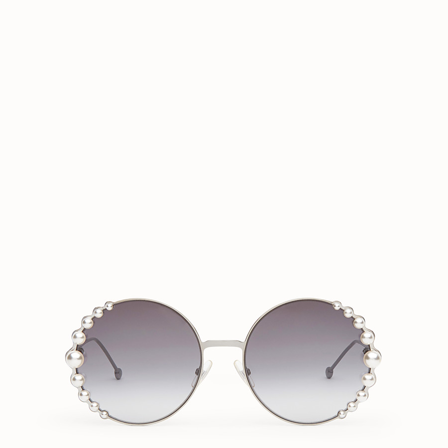 FENDI RIBBONS AND PEARLS - Ruthenium-color sunglasses - view 1 detail