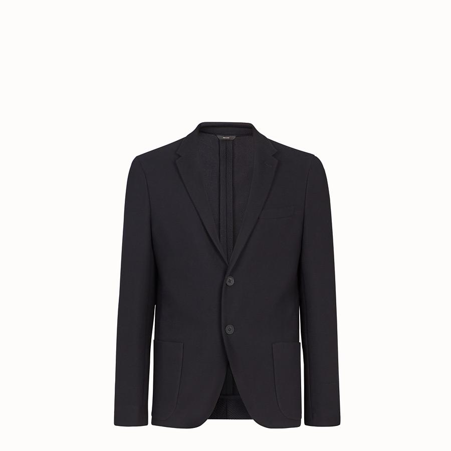 FENDI JACKET - Black cotton blazer - view 1 detail