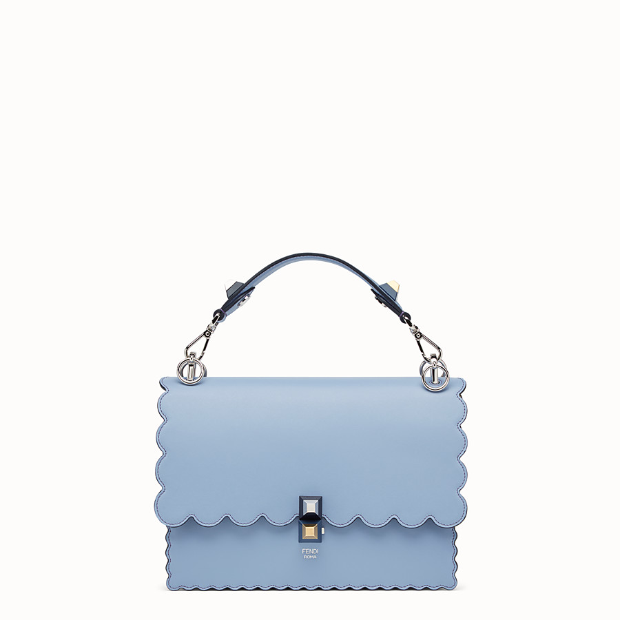 FENDI KAN I - Light blue leather bag - view 1 detail