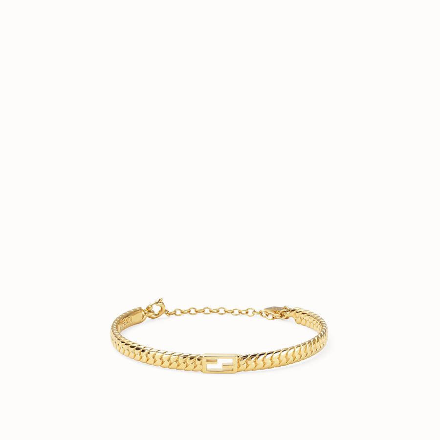 FENDI BAGUETTE BRACELET MEDIUM - Gold-colour bracelet - view 1 detail