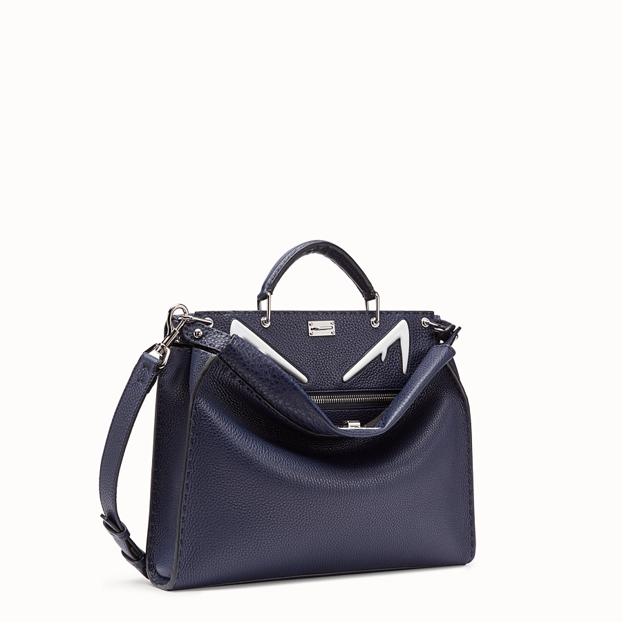 FENDI PEEKABOO FIT - Blue leather bag - view 2 detail