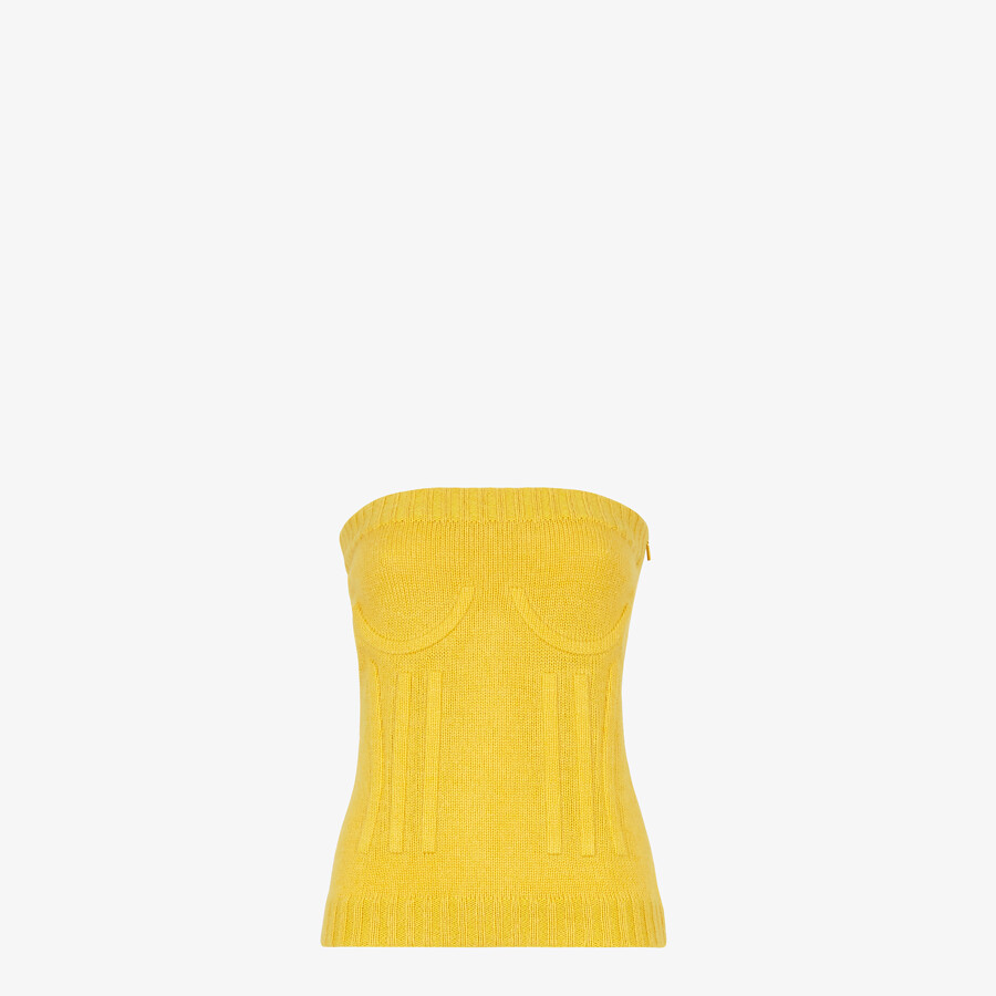 FENDI TOP - Yellow mohair and cashmere top - view 1 detail