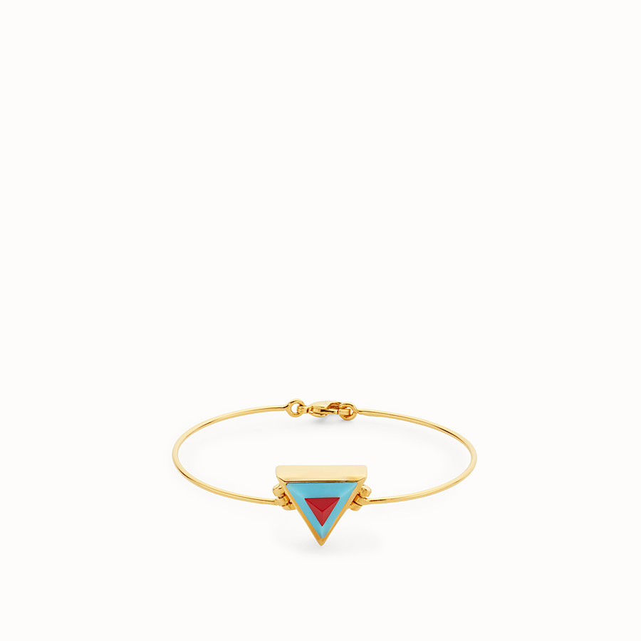 FENDI RAINBOW BRACELET - Rainbow bangle in metal and stone - view 1 detail