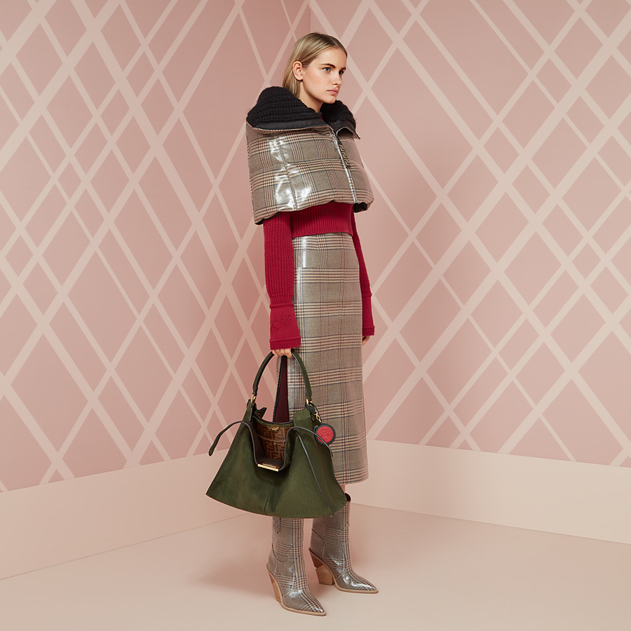 FENDI SKIRT - Prince of Wales check wool skirt - view 4 detail