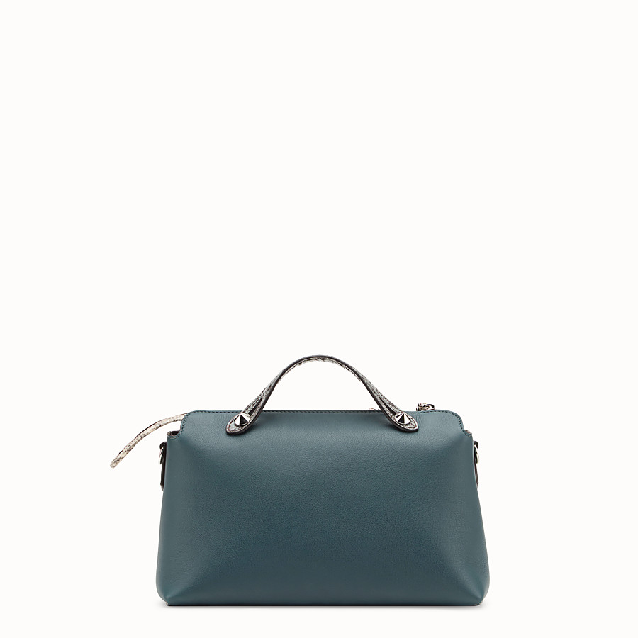 FENDI BY THE WAY REGULAR - Green leather Boston bag with exotic details - view 3 detail