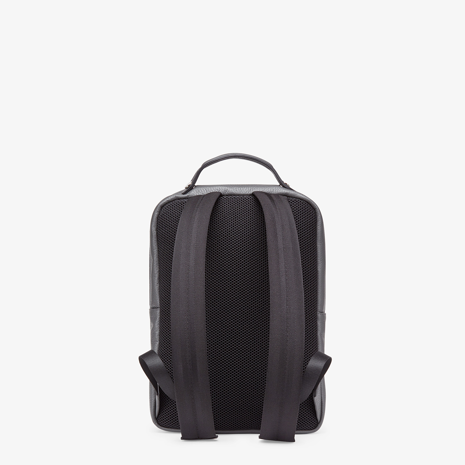 FENDI BACKPACK - Grey calf leather backpack - view 3 detail