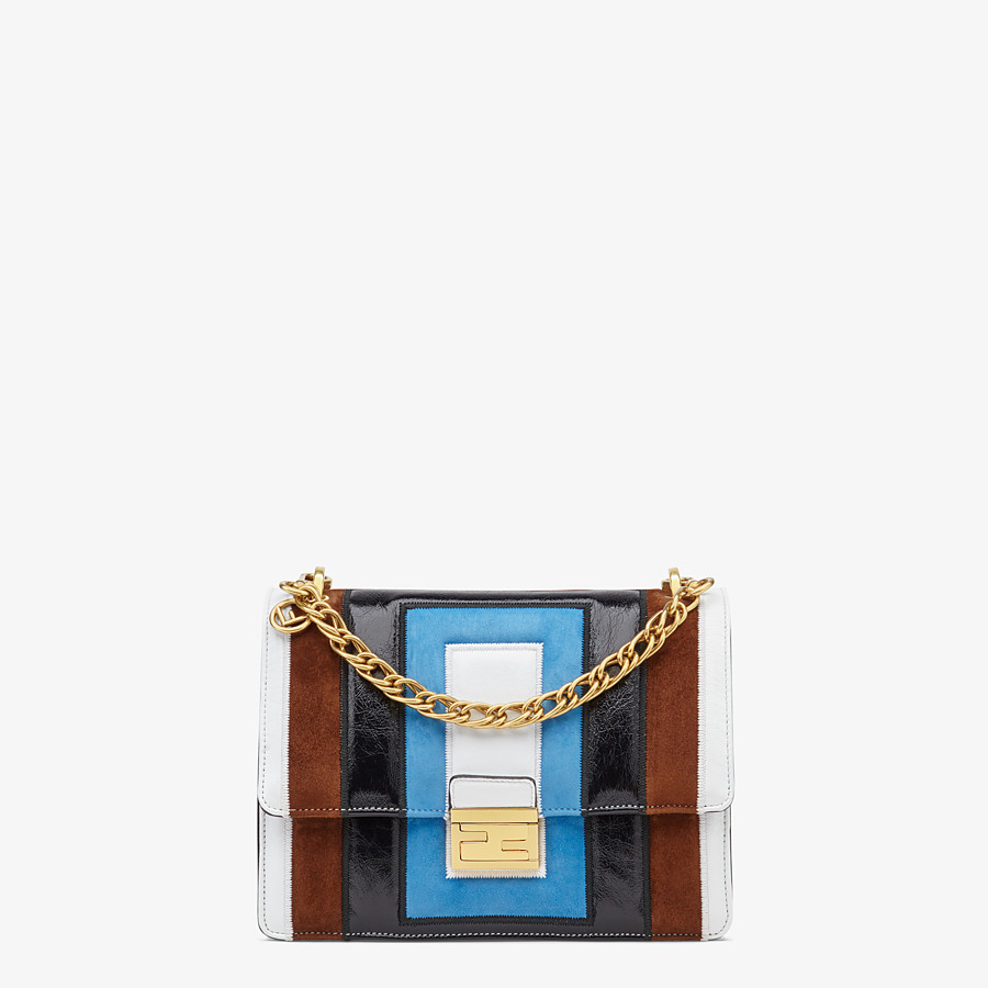 FENDI KAN U - Multicolour leather and suede bag - view 1 detail