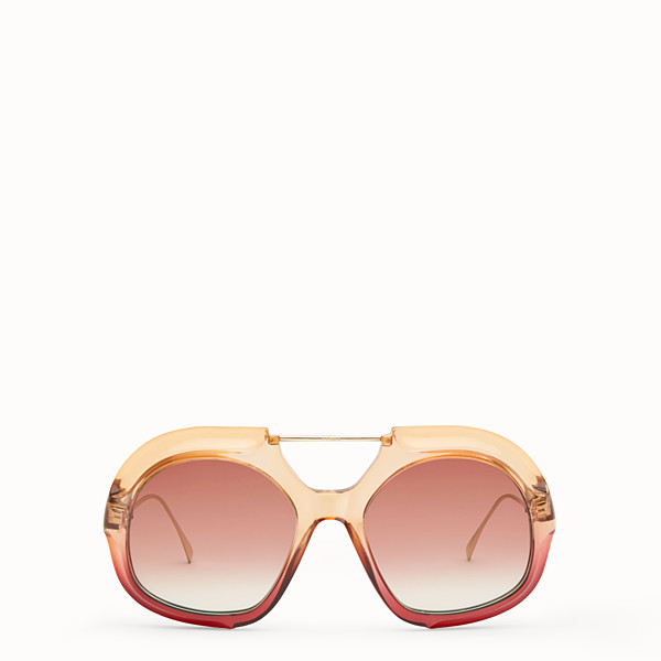 FENDI TROPICAL SHINE - Lunettes de soleil rose et rouge - view 1 small thumbnail
