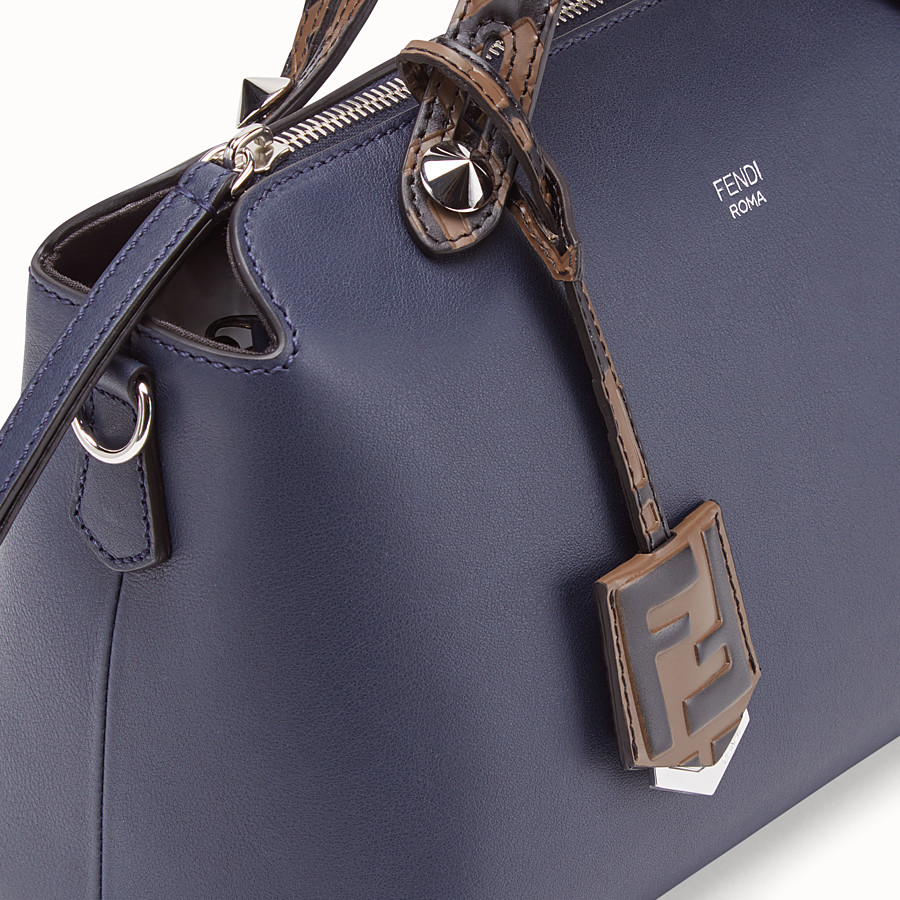 FENDI BY THE WAY MEDIUM - Blue leather Boston bag - view 6 detail