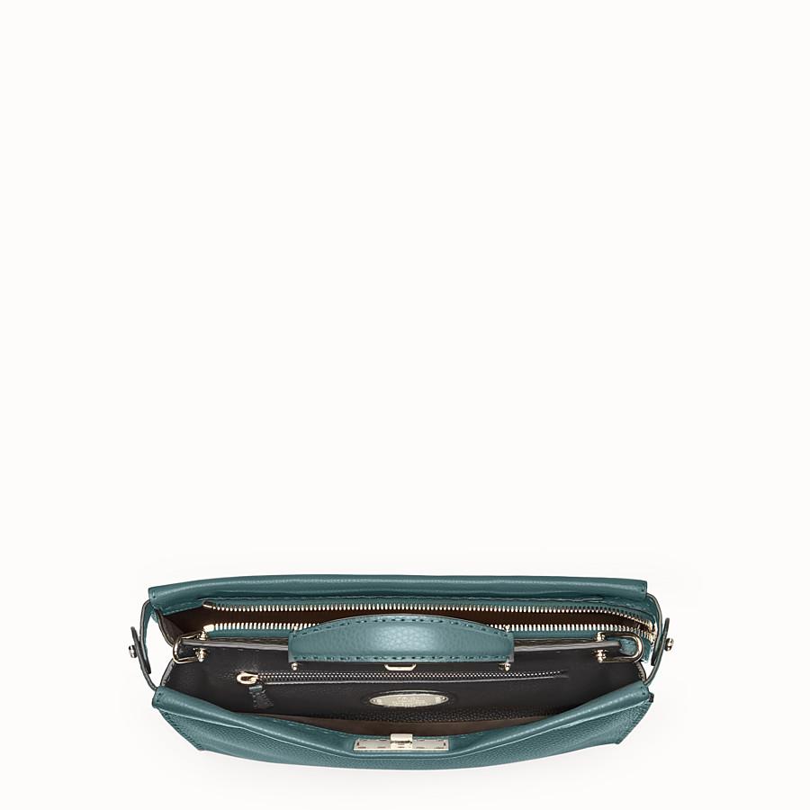 FENDI PEEKABOO ICONIC FIT - Green leather Selleria bag - view 4 detail