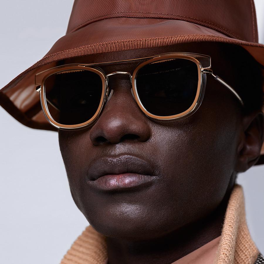 FENDI FENDI GLASS - Transparent and gold sunglasses - view 4 detail