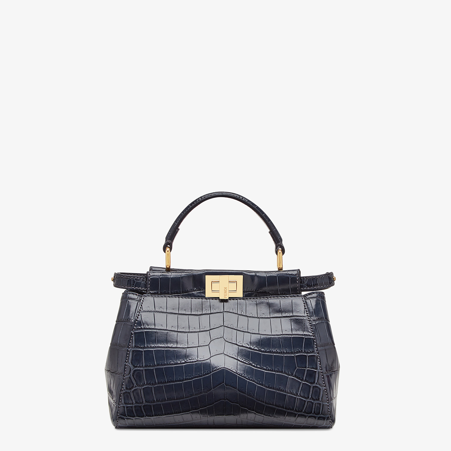 FENDI PEEKABOO MINI - Black crocodile bag - view 1 detail