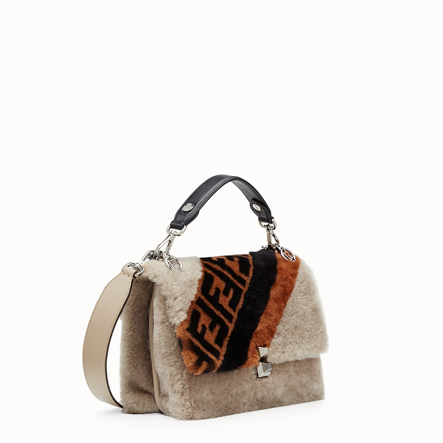 FENDI KAN I - Multicolor sheepskin bag - view 2 detail
