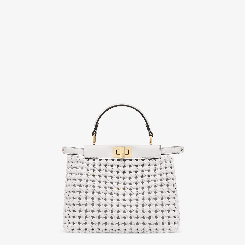 FENDI PEEKABOO ICONIC MINI - White leather interlace bag - view 1 detail