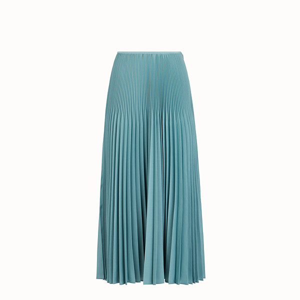 FENDI SKIRT - Light blue kid mohair skirt - view 1 small thumbnail